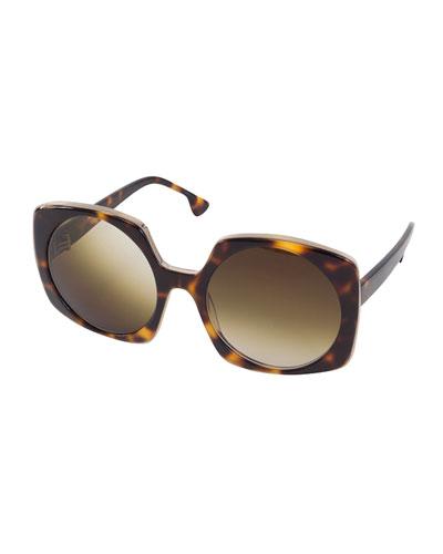 Canton Square Sunglasses, Brown Tortoise
