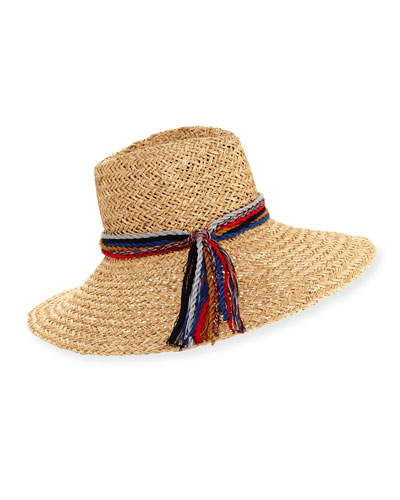 Kathleen Straw Sun Hat, Light Brown