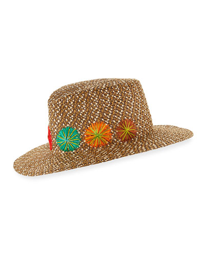 Zanzibar Packable Squishee Sun Fedora Hat, Brown