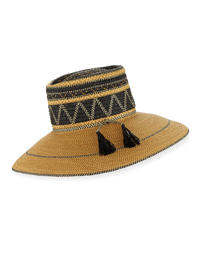 Palermo Squishee Packable Sun Hat, Neutral/Black