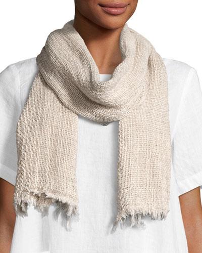 Organic Linen/Cotton-Blend Twist Scarf