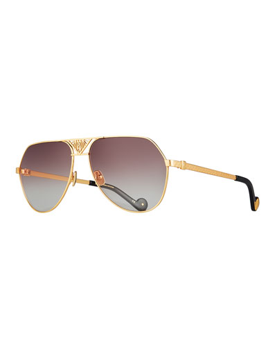 The Art Deco Aviator Sunglasses, 24k Gold Plate