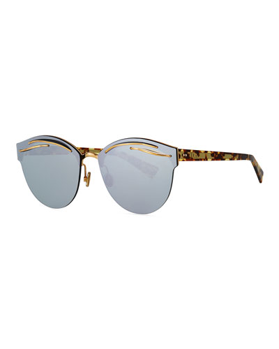 Emprise Semi-Rimless Monochromatic Sunglasses