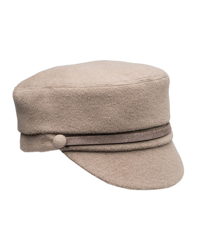 Elyse Cashmere Military Hat