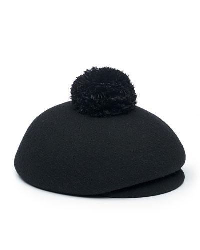Ogden Wool Newsboy Hat, Black