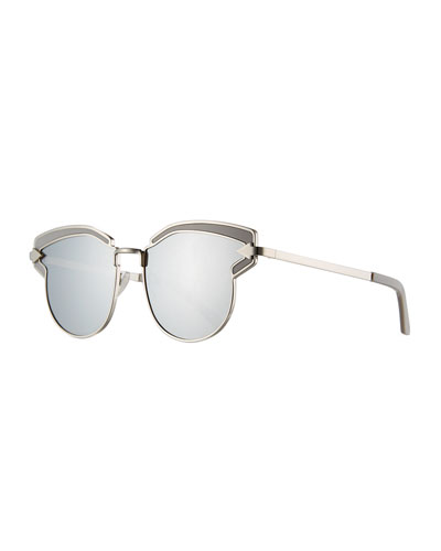 Felipe Metal Sunglasses, Gray