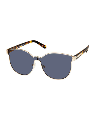 Star Sailor Monochromatic Sunglasses, Yellow Gold/Crazy Tortoise
