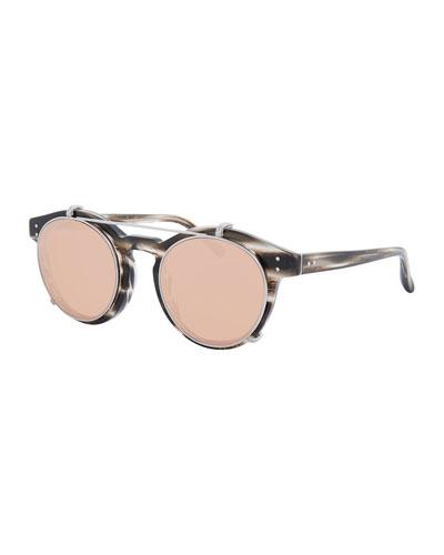 Gold Plated Mirror Sunglasses Neiman Marcus