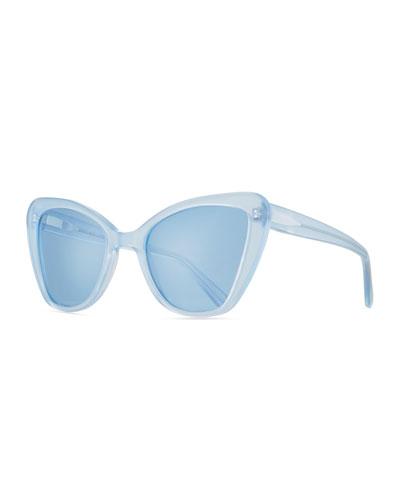 Venice Cat-Eye Sunglasses, Blue