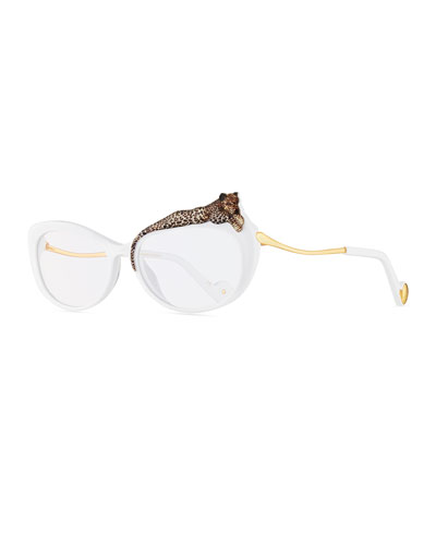 Rose et le Reve Cat-Eye Optical Frames, White