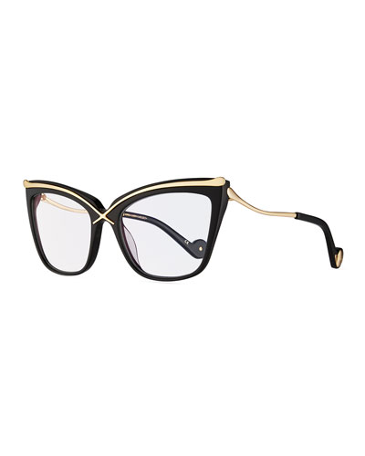 Lusciousness Divine Cat-Eye Optical Frames, Black