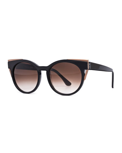 Monogamy Cat-Eye Sunglasses, Black