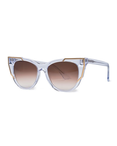 Butterscotchy Cat-Eye Sunglasses, Clear