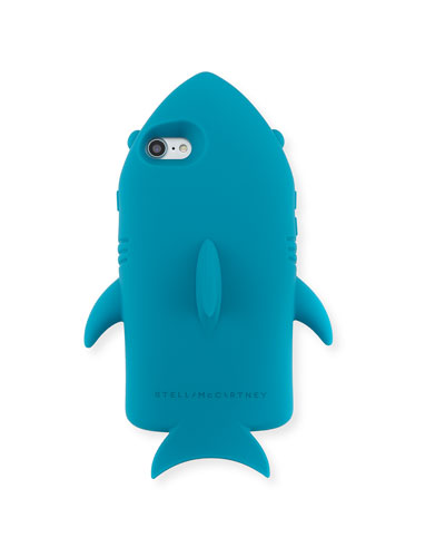 Stella McCartney Shark Silicone Phone Case, Teal