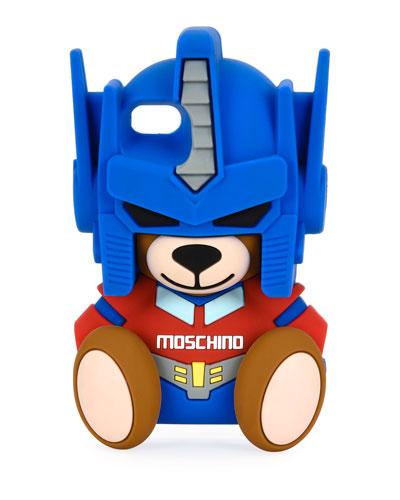 Transformer Bear iPhone 7 Case, Blue