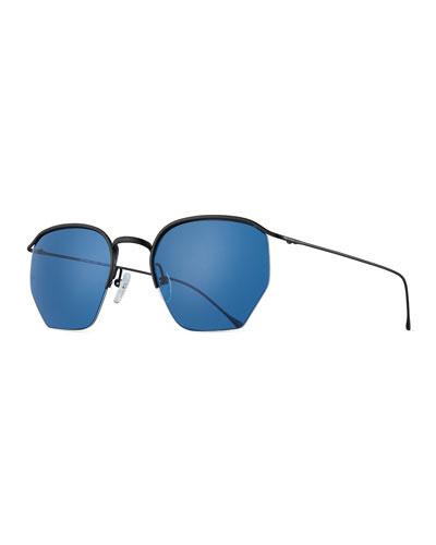 Geo I Semi-Rimless Geometric Sunglasses