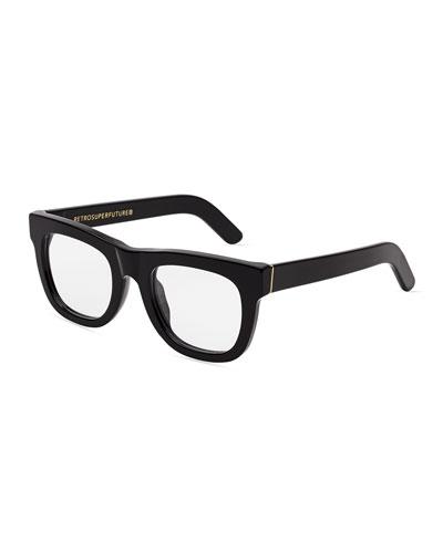 Ciccio Square Optical Frames, Black