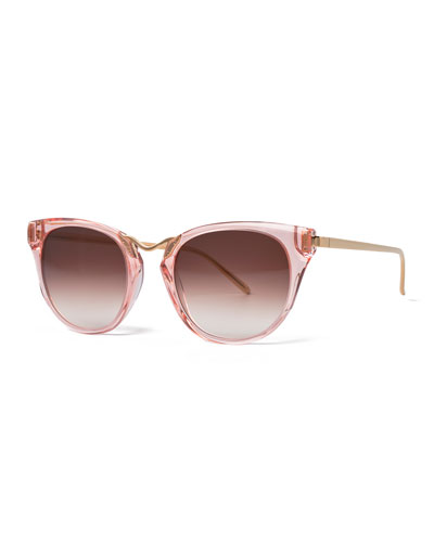 Hinky Transparent Cat-Eye Sunglasses, Pink