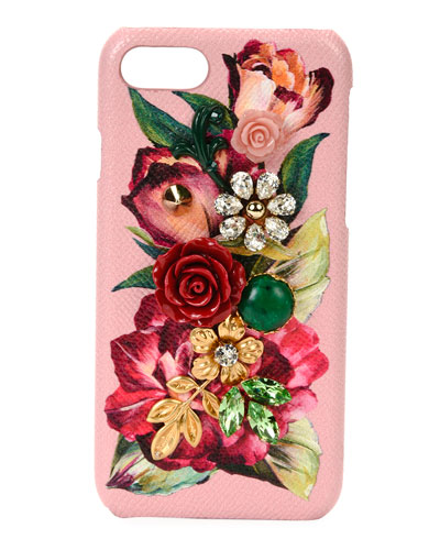 Floral Embellished Phone Case