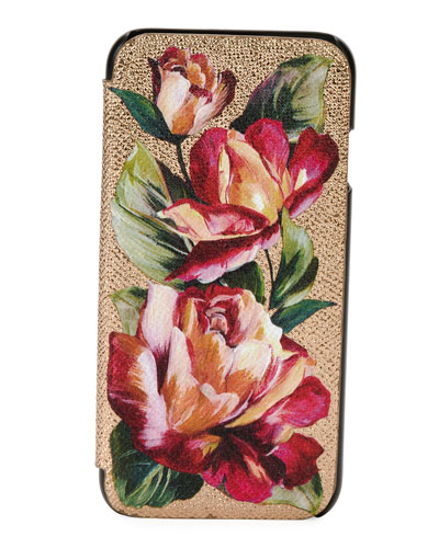 Floral Leather Phone Cover