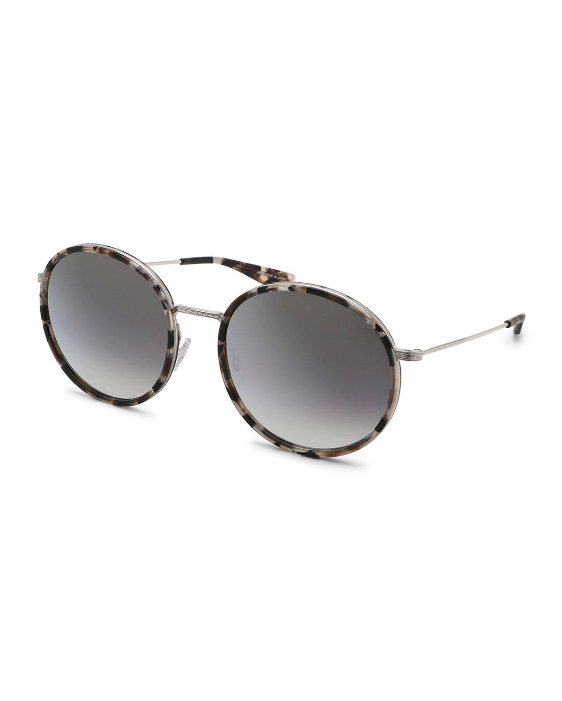 Barton Perreira Sunglasses JOPLIN ROUND METAL-RIM SUNGLASSES