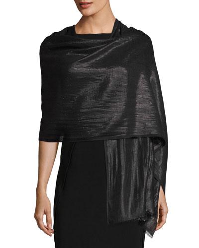 Metallic Cashmere Wrap