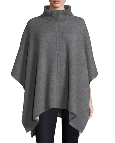Double-Faced Cashmere Poncho