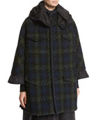 Euphrasie Oversized Houndstooth Coat