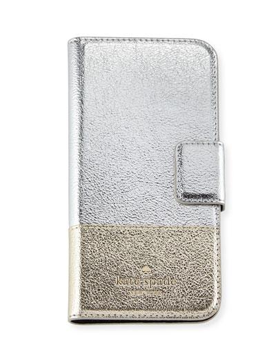 metallic folio iPhone 7 case