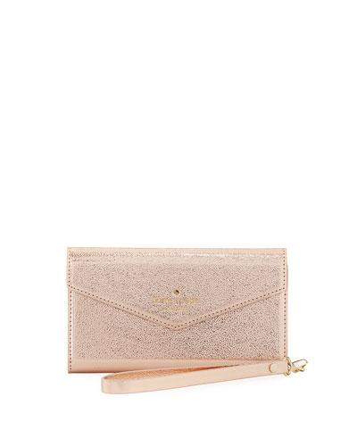 metallic envelope iPhone 7 wristlet wallet
