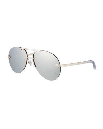 Love Hangover Semi-Rimless Aviator Sunglasses, Gray
