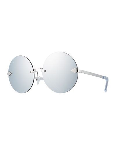 Disco Circus Rimless Round Sunglasses