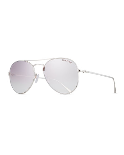 Ace Aviator Sunglasses, Silver