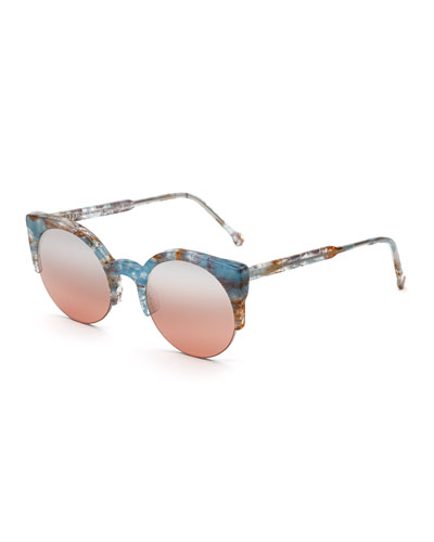 Lucia Onice Semi-Rimless Sunglasses