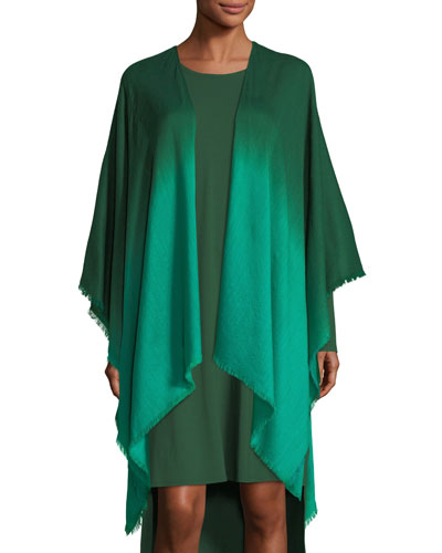 Ombre Wool/Silk Wrap, Plus Size
