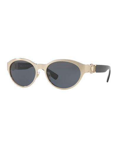 Metal Oval Sunglasses