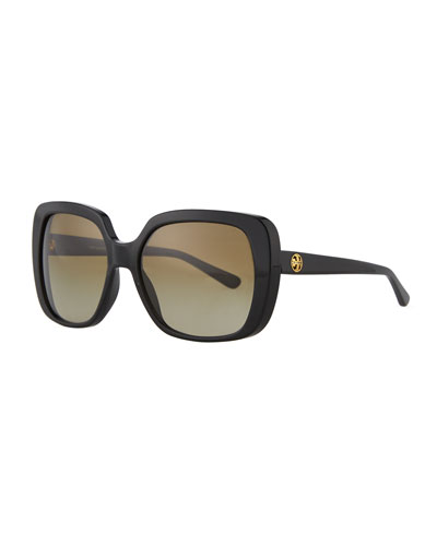 547a7aad2d67 Quick Look. Tory Burch · Rectangle Sunglasses w/ Transparent Arms