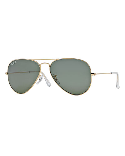 Metal Polarized Aviator Sunglasses