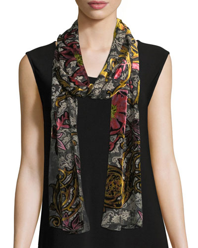 Double Printed Devore Scarf