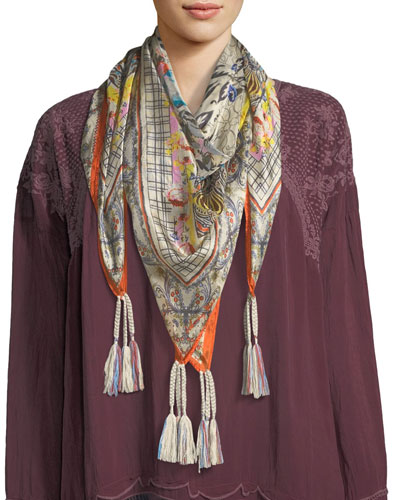 Tribute Silk Printed Scarf