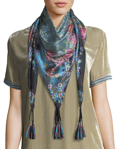 Besimo Printed Silk Georgette Scarf