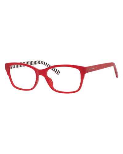 2b4b5f90a06 Quick Look. kate spade new york · tenille rectangular reading glasses.  Available in Red Pattern