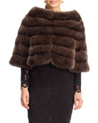 Horizontal Sable Fur Cape