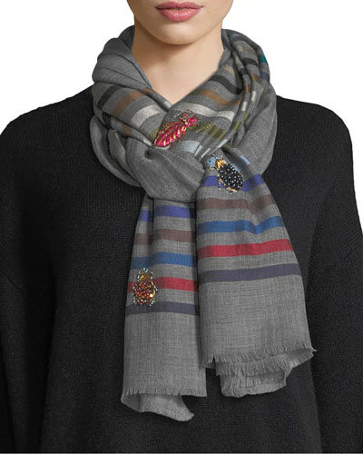 True Bugs Wool-Silk Scarf