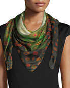 Do Not Vine Square Silk Scarf, 100cm