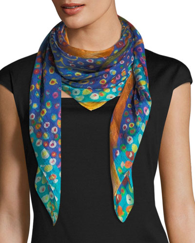 Resonate Square Silk Scarf, 100cm