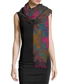 Maverick in Milan Wool Paisley Shawl, Multi