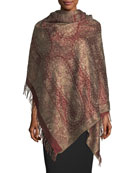 Antiqued Paisley Wool-Silk Shawl