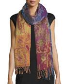 Ornamental Paisley Wool Shawl