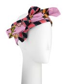 Botanic Chane Silk Knotted Headband